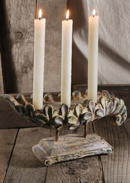 Floral Taper Candle Holder