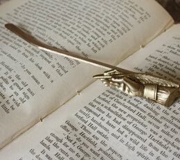 Shakespeare's Pen Pewter Book Mark