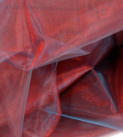 Sheer Fabric Iridescent Burgundy & Blue 9ft