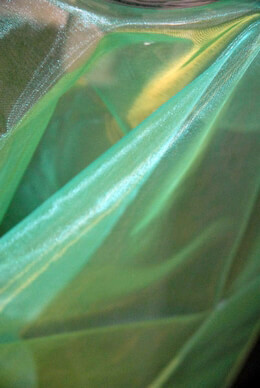 Organza Fabric Iridescent Gold & Green 9ft