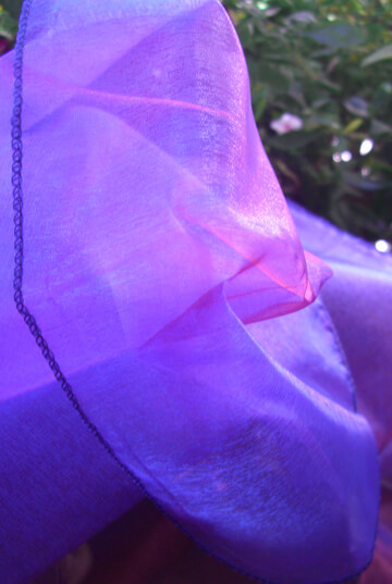 "Sheer Iridescence Purple & Pink Fabric 28"" width x 3 yds"