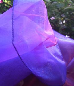 "Sheer Iridescence Purple & Pink Fabric 28"" width x 3 yds"
