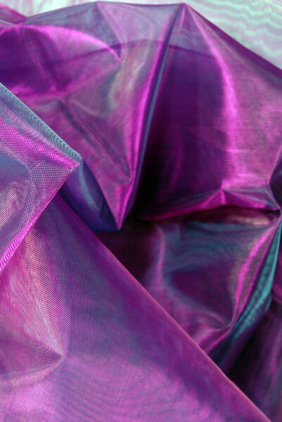Organza Fabric Iridescent Purple 9ft