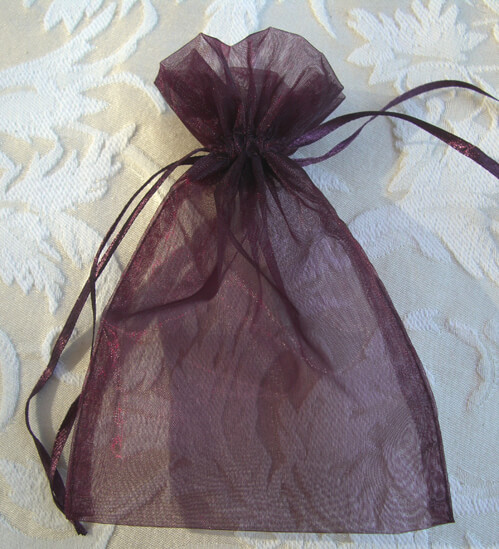 Organza Favor Bags Plum | Pack of 10