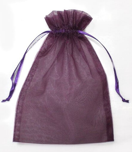 Organza Favor Bags Burgundy 5 x 6.5 (24 Pack)