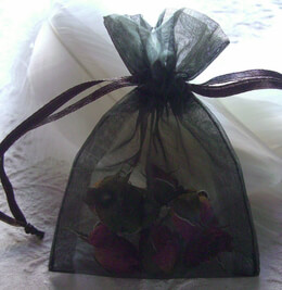 Sheer Organza Drawstring Bags Black 3 x 4 (10 bags/pkg)