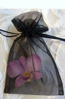 Organza Favor Bags 4x6 Black(10 bags)