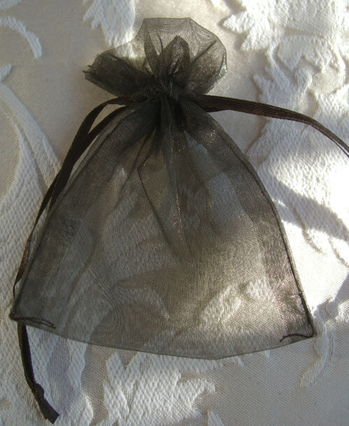 Organza Favor Bags Brown 3x4 (Pack of 10)