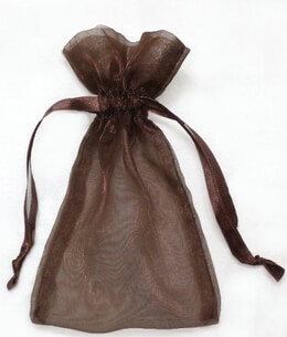Sheer Organza Drawstring Bags Brown 5 x 6-1/2 (24 bags/ pkg)