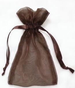 Sheer Organza Drawstring Bags Brown 5 x 6-1/2 (24 bags/ pkg)
