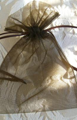 Organza Favor Bags Brown 4x6in (Pack of 10)