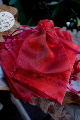24 Burgundy & Navy Iridescent 3x4 Pouches Favor Bags