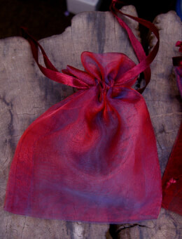 "Sheer Organza Drawstring Bags Burgundy & Navy 3"" x 4"" (24 bags) Sheer Favor Bags"