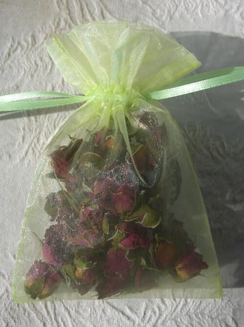 Sheer Organza Drawstring Bags Chartreuse Green 4 X 6 (10 bags/pkg)
