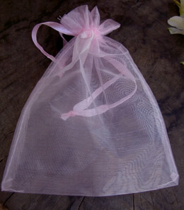 Organza Favor Bags Pink 6.5in (Pack of 24)
