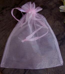 Sheer Organza Drawstring Bags Pink 5x6 (24 bags/pkg)