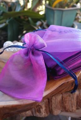 "Sheer Organza Drawstring Bags Violet & Blue 3"" x 4"" (24 bags/pkg)"