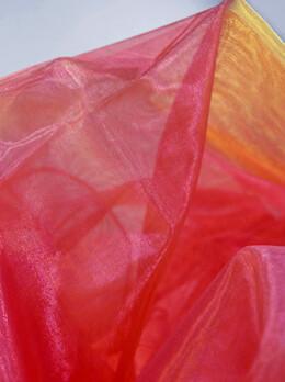 """Sheer Organza Fabric Fuchsia & Yellow 58"""" width x 3 yds"""