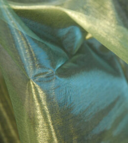 Organza Fabric Iridescent Yellow and Blue 9ft