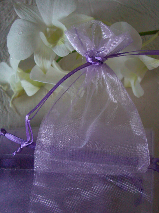 "Sheer Organza Favor Bags Lavender 3"" x 4"" (pack of 24)"
