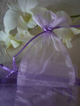 "Lavender Organza Favor Bags 3"" x 4"" (pack of 24)"