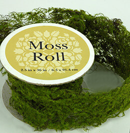 Sheet Moss Roll Artificial 2.5 x 36in