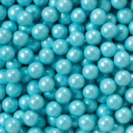 Shimmer Powder Blue Sixlets Favor Candy 14oz