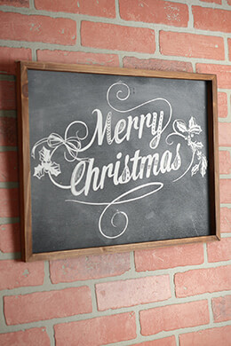 Large Chalkboard Art Merry Christmas Display Sign 19x15