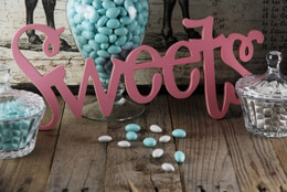 """Sweets"" Sign Pink 17.75in"