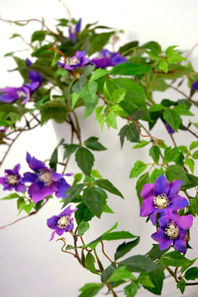 Purple Clematis Flower Silk Garland 28""