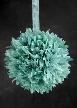 """Silk Flower Balls Tiffany Blue 6"""" Size"""