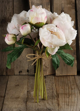 Peony Bouquet Silk Cream Flowers