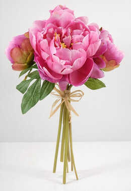 Peony Bouquet Silk in Pink