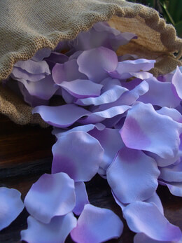 Silk Rose Petals 250 Lavender Purple