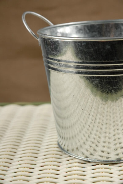 Galvanized Metal Pail with Liner 6.5in