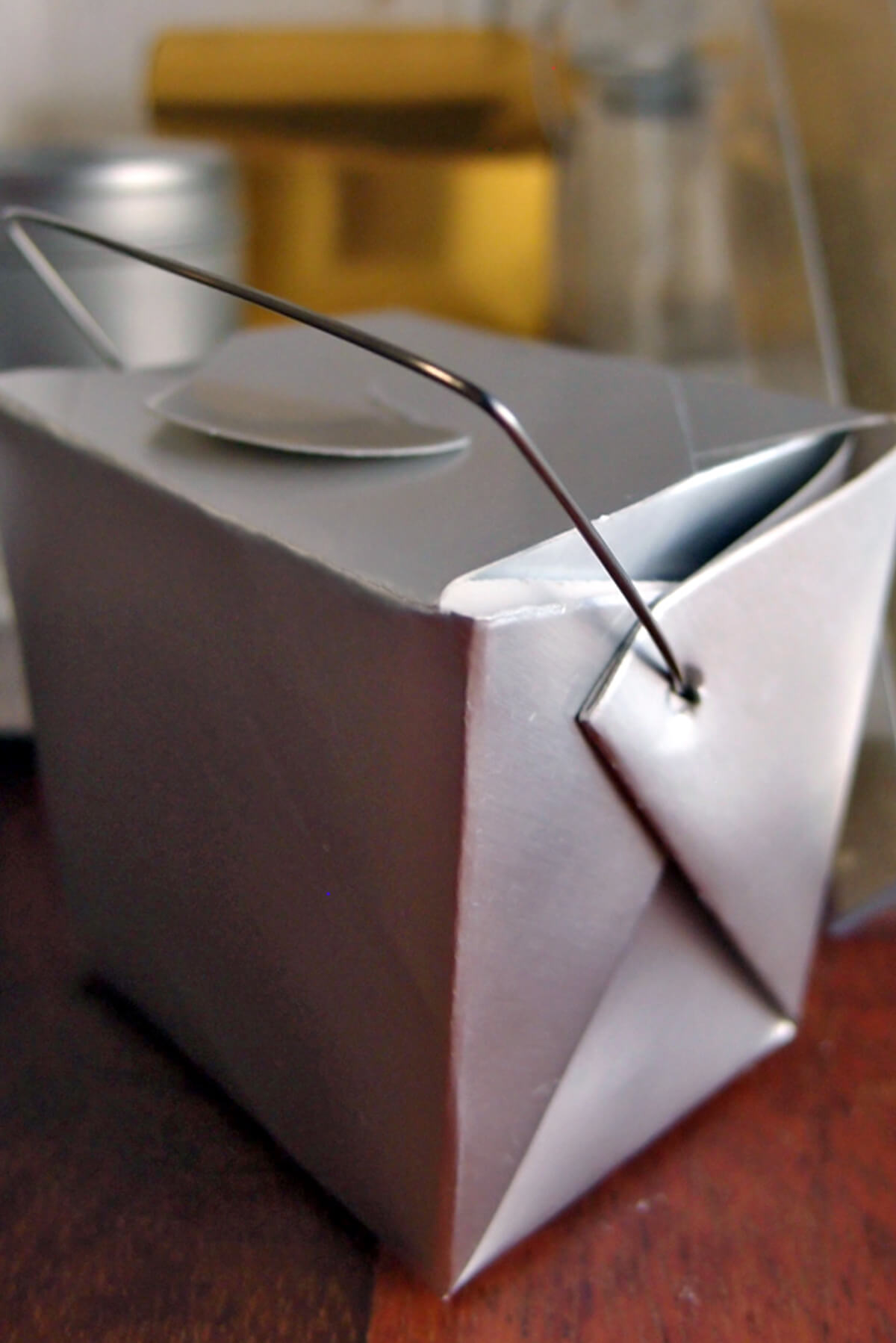 12 Tiny Silver Takeout Boxes 8oz /  2.5in