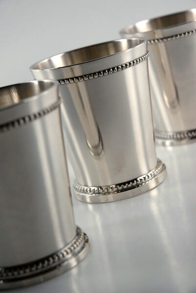 Mint Julep Cups Silver Plated 3-1/4""
