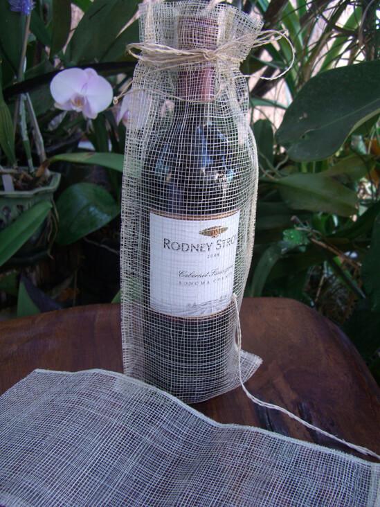 Sinamay Jute Wine Bags (12 pack)