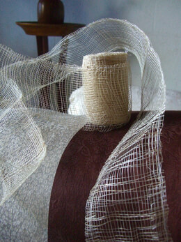 Natural Sinamay 3in Ribbon 8 yards