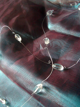 12-  6' Crystal Wire Garlands