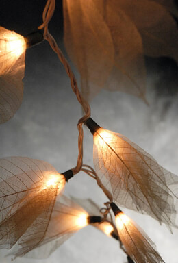 Skeleton Leaf Flower String Lights
