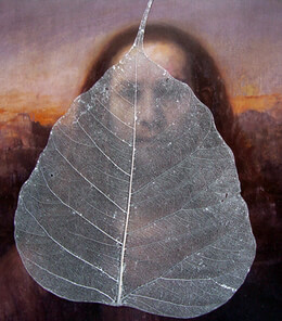 "Skeleton Leaves Silver Painted 4"" Boda Tree (10 leaves/pkg)"
