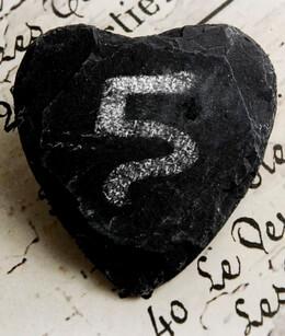 Heart Clips Slate|Pack of 6