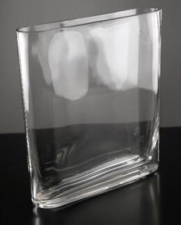 Thin Rectangle Glass Vase
