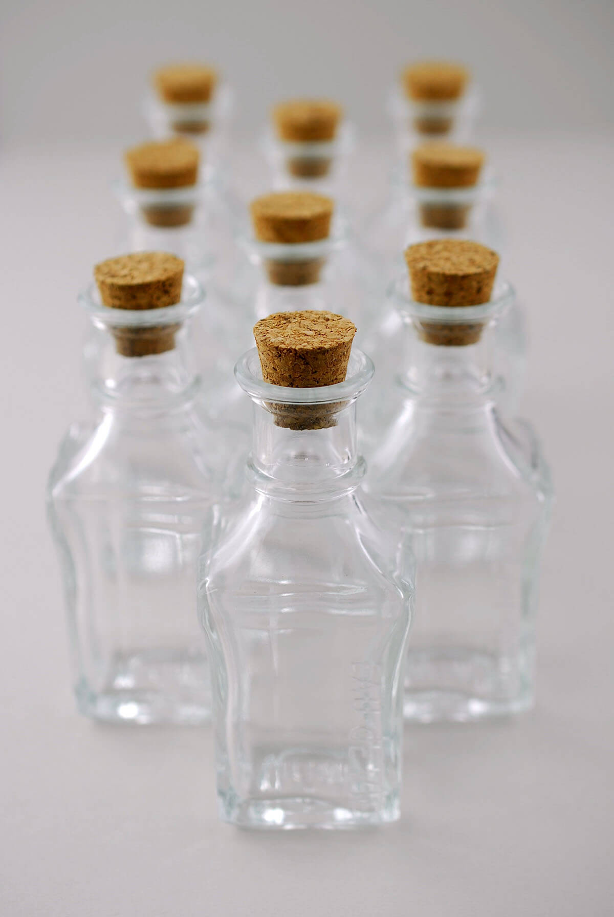 Small Glass Bottles With Cork 39in Pack Of 10