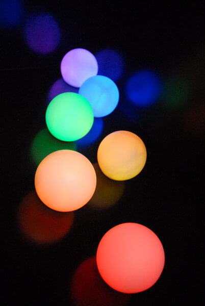 "LED Small Glowing Orbs (3"")"