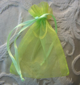 Small Mint Green Organza 3x4 Sheer Favor Bags (10 bags pkg)