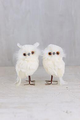 Snow Owls 4.75in (Set of 2)