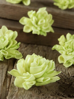 "Sola Flowers 2"" Green Dahlias (9 flowers)"