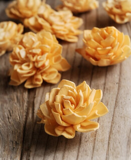 "Sola Flowers 2"" Light Orange Dahlias 9 flowers"